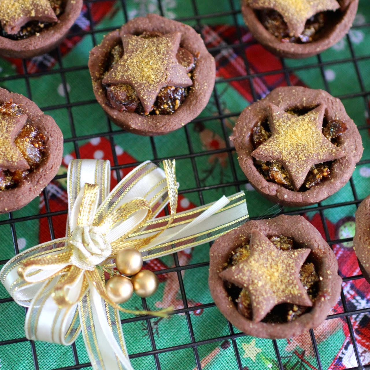 chocolate%2Bmince%2Bpies%2Bwith%2Bsparkle Vegan chocolate mince pies and other Christmas foods