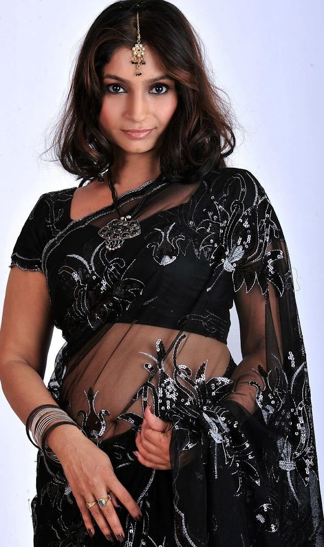 Srilekha Hot Black Saree Pictures 