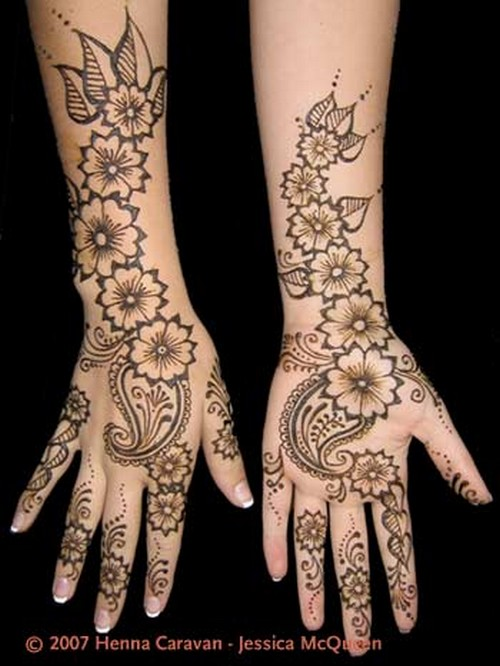 Simple Arabic Flower Mehndi Designs : Flower for mehndi in pakistan desings