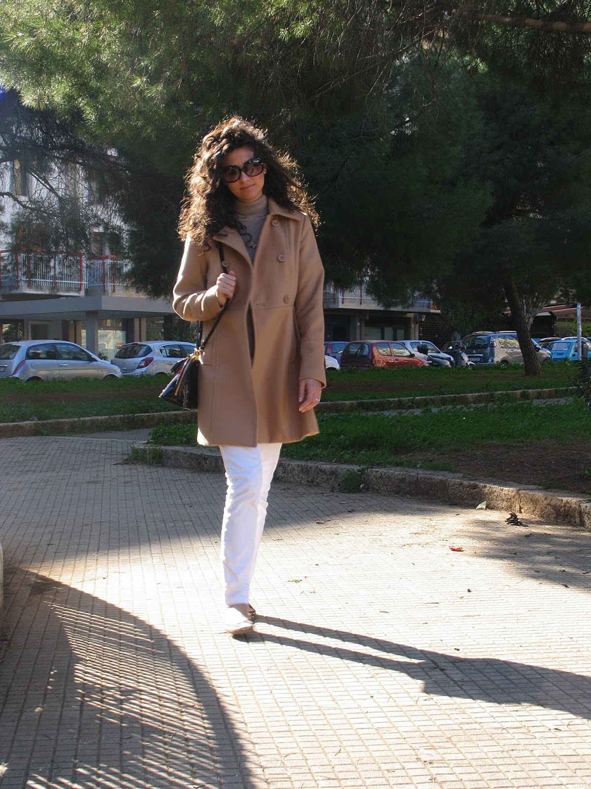 coat, cammello, animalier, flats, white, shooting, outfit, look