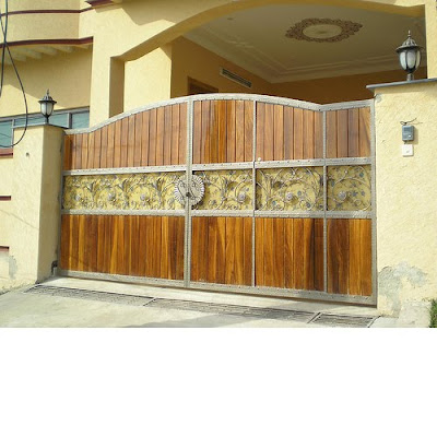 House and home designs main gate wood for Simple gate designs for homes