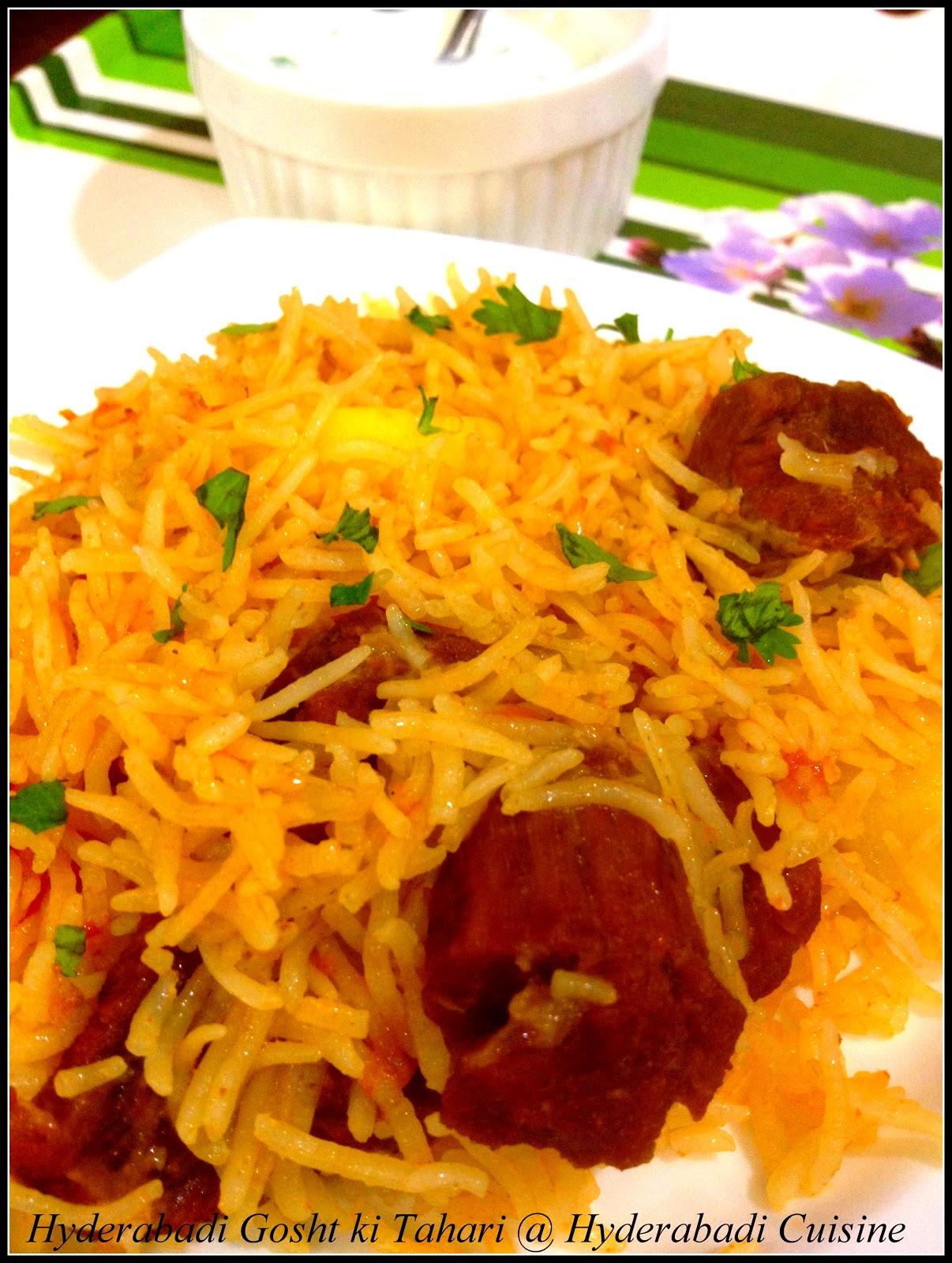 Hyderabadi cuisine hyderabadi gosht ki tahari hyderabadi gosht ki tahari forumfinder Images