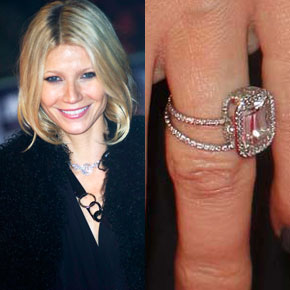 celebrities and fashio... Gwyneth Paltrow Engagement Ring