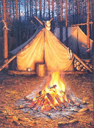 The State of Wisconsin has issued emergency burning restrictions for    Campfire Painting