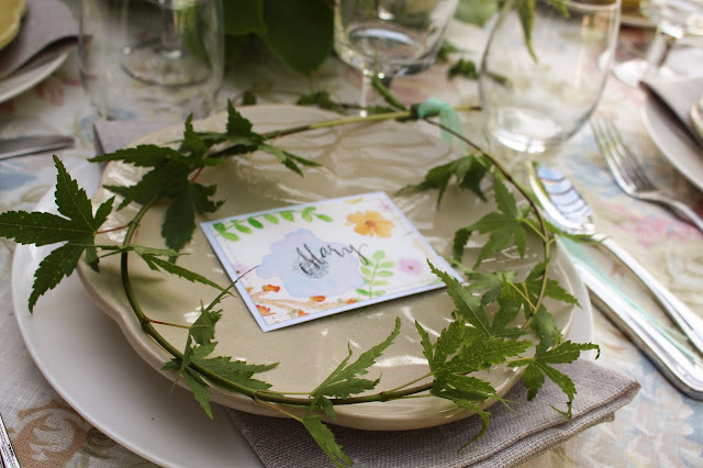 Midsummer Party - A Fragrant & Tasty Soirée - head wreath place setting - Aimee Ferre