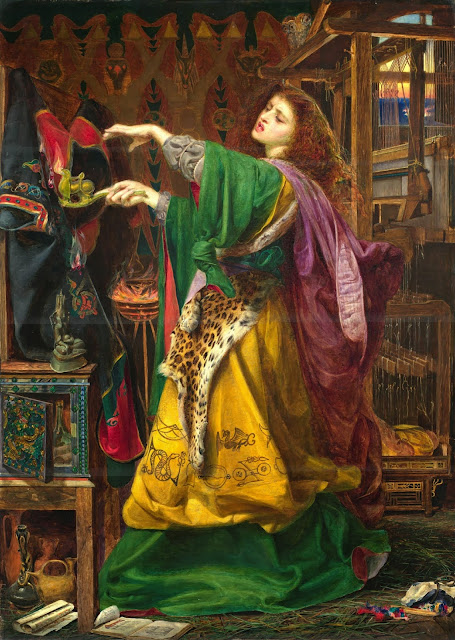 Morgan le Fay,Anthony Sandys, Victorian painting