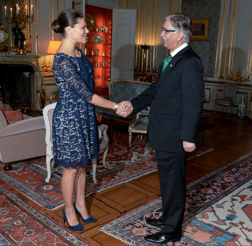 Crown Princess Victoria met with the Chairman of the Senate of Pakistan