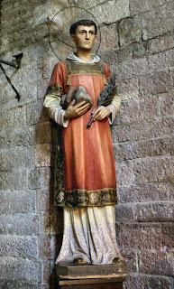 The statue can be found in the Chiesa di Santo Stefano
