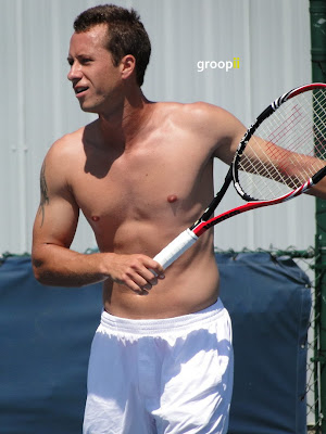 Philipp Kohlschreiber Shirtless at Cincinnati Open 2010