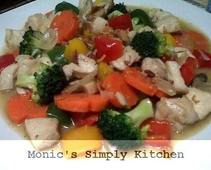 resep ayam cah sayuran brokoli wortel