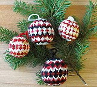 Елочные шарики в норвежском стиле