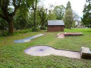 Crazy Golf in Llandrindod Wells, Wales