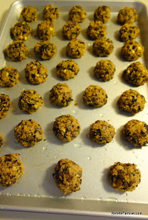 Quinoa and mushrooms balls