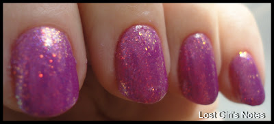 kleancolor fuschia holo for pink wednesday manicure
