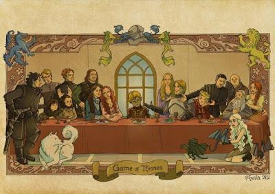 La última cena de juego de Tronos - Juego de Tronos en los siete reinos