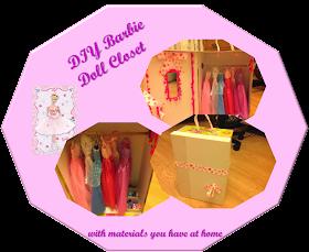 DIY barbie doll closet