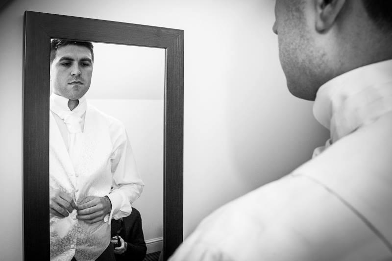 Groom, morning preparations, wedding