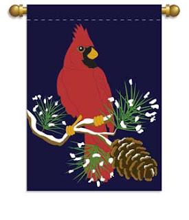 winter cardinal flag