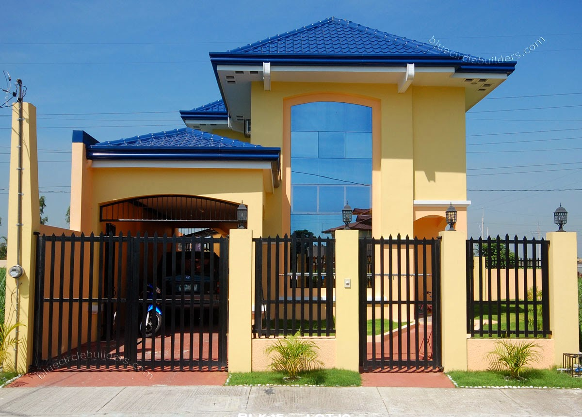 30 beautiful 2 storey house photos bahay ofw for Home designs com