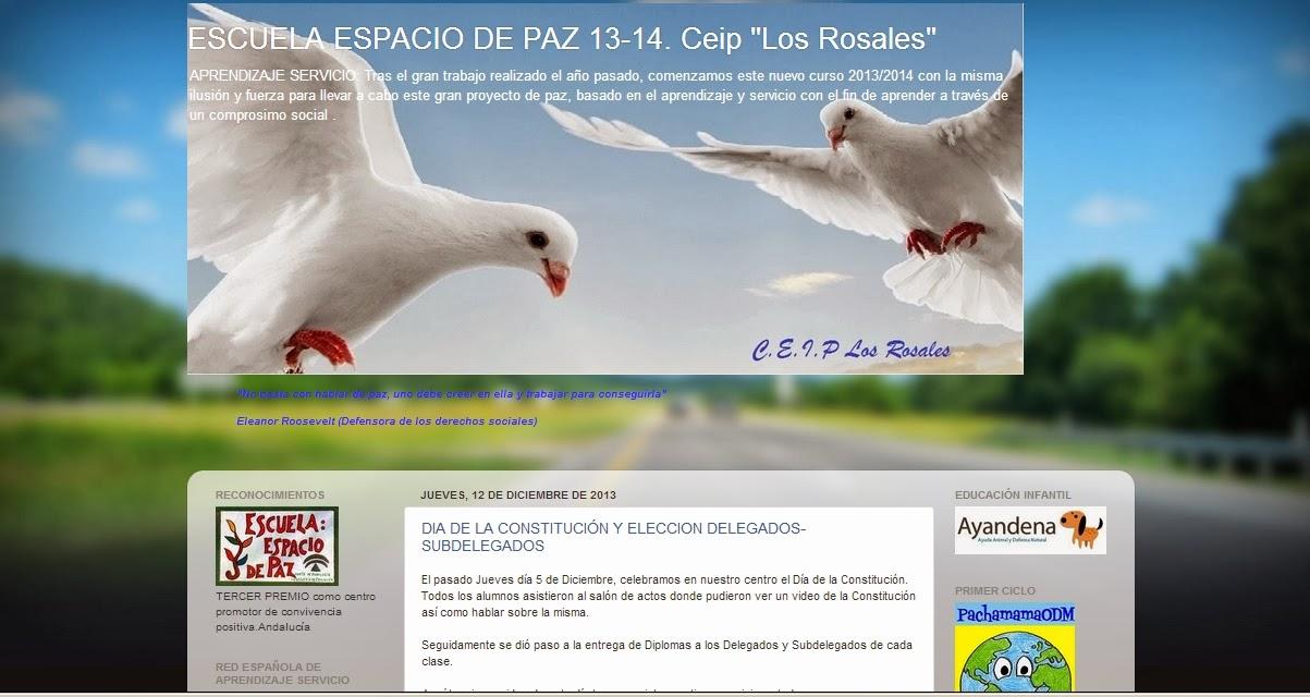 Blog del Proyecto de Paz del C.E.I.P. Los Rosales