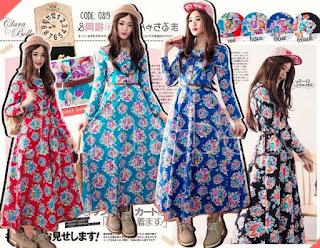 Sara Flowery Maxi Dress