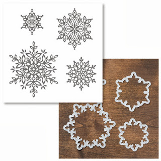 Festive Flurry Snowflake stamp set and framelits bundle