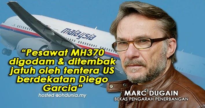 Pesawat MH370 telah digodam dan ditembak jatuh oleh Tentera US