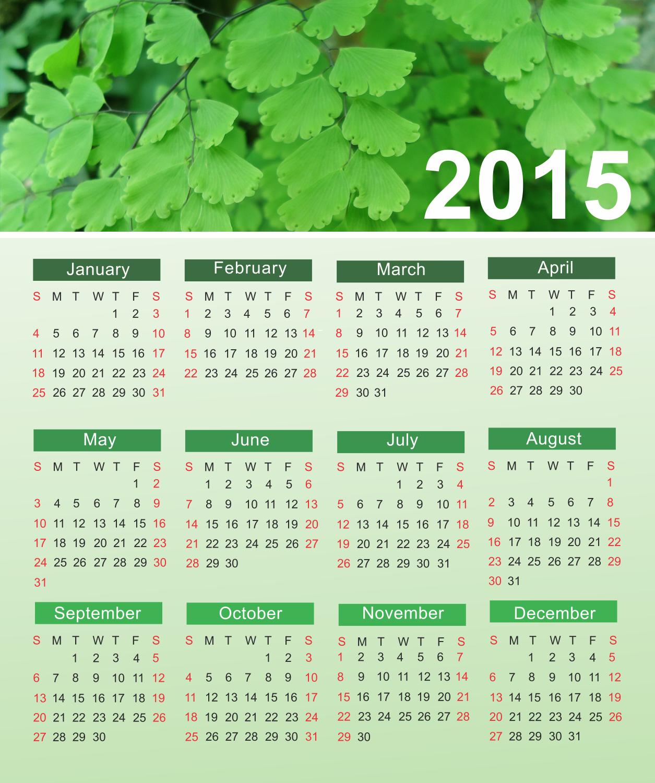 Ảnh nền lịch 2015 đẹp nhất