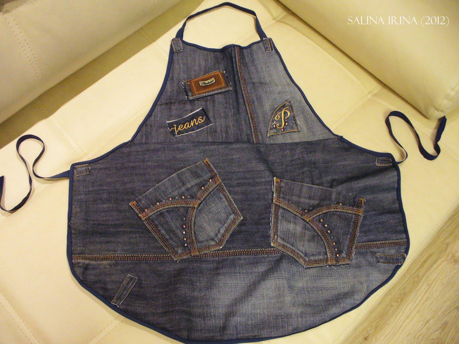 Как сшить фартук из старых джинсов своими руками выкройки