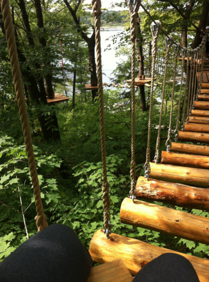 Treetop Trekking S New Zip Line And Aerial Game Park