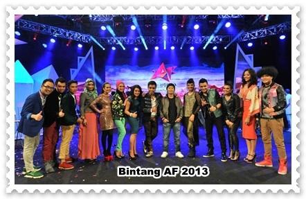 konsert af 2013, konsert minggu kedua af 2013, konsert akademi fantasia 2013, peserta af 2013, calon af 2013, Senarai Lagu Bintang AF 2013 Minggu Ke-2