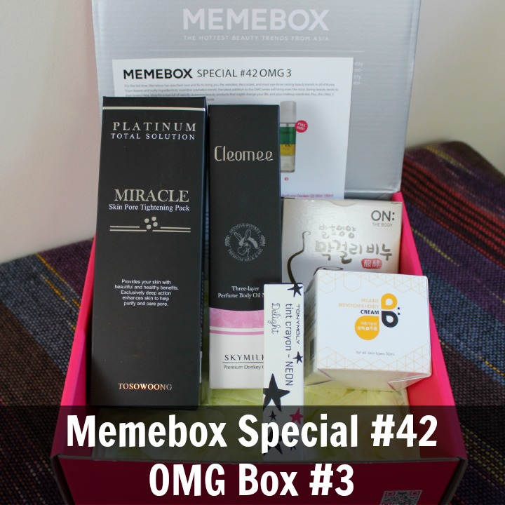 Memebox Global Special #42 - OMG Box #3 Review & Unboxing