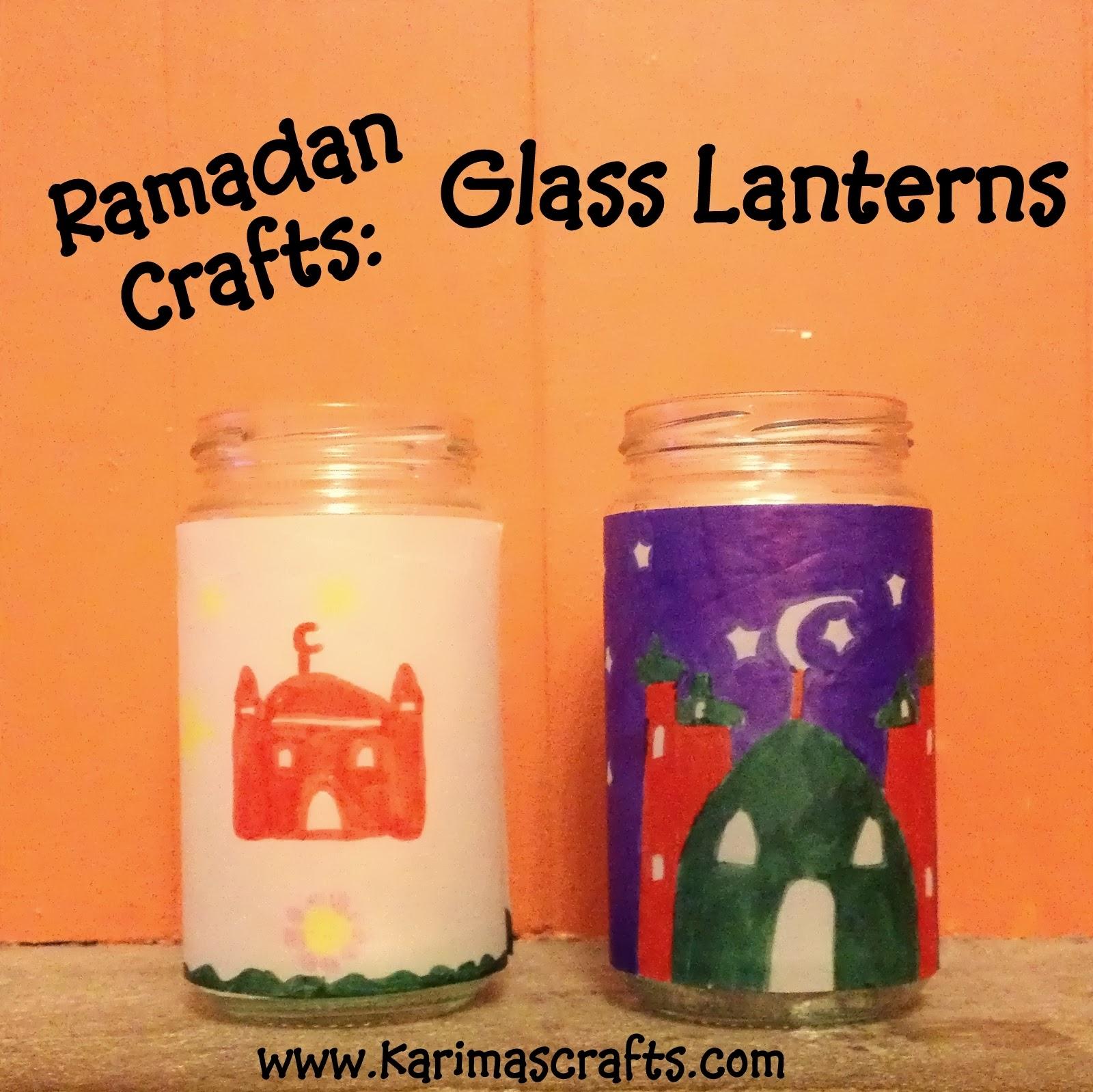 ramadan crafts glass lantern muslim islamic