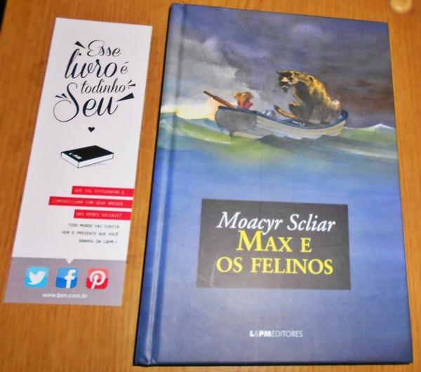 Livro Max e os felinos do autor Moacyr Scliar, A vida de Pi, capa dura, L&PM Editores