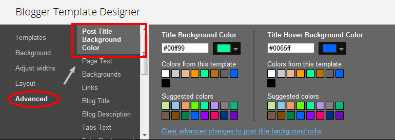 blogger post template code - how to change post title background color in blogger
