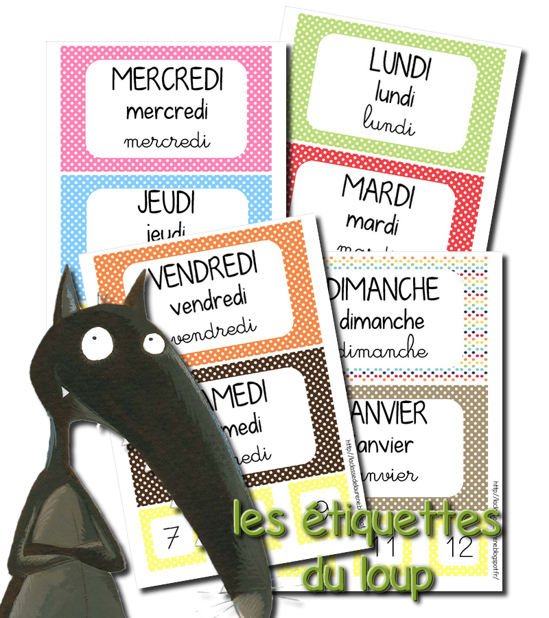 Souvent La maternelle de Laurène: Les étiquettes dates SX17