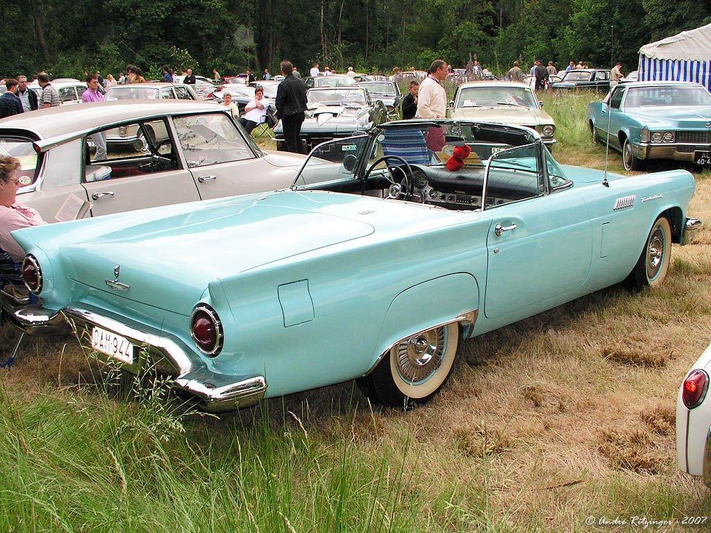net cars show ford thunderbird 1st generation 1955 1957. Black Bedroom Furniture Sets. Home Design Ideas
