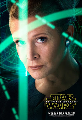 Star Wars The Force Awakens Character Movie Poster Set 1 - Carrie Fisher as Leia
