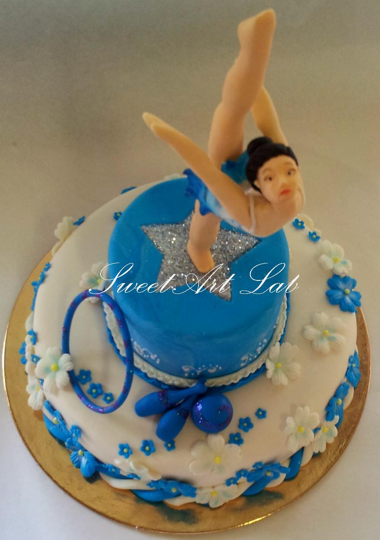 Michela barocci sugar artist luglio 2012 for Decorazione torte ginnastica ritmica