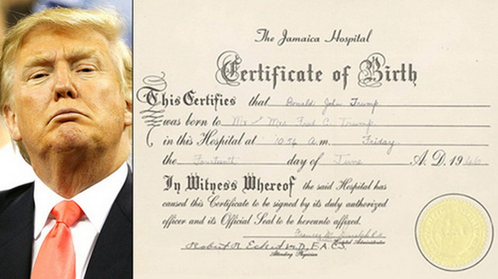 donald trump birth certificate. (NEW YORK) -- Donald Trump