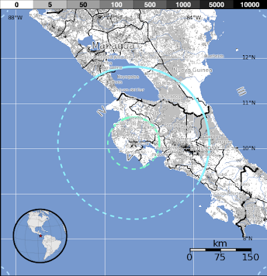 EPICENTRO TERREMOTO 6,6 GRADOS EN COSTA RICA, 23 DE OCTUBRE 2012
