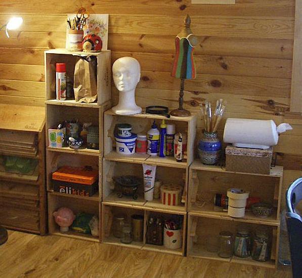 Estanter as y otros muebles reutilizando cajones para - Cajones para estanterias ...