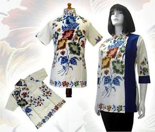 model blus batik 2013