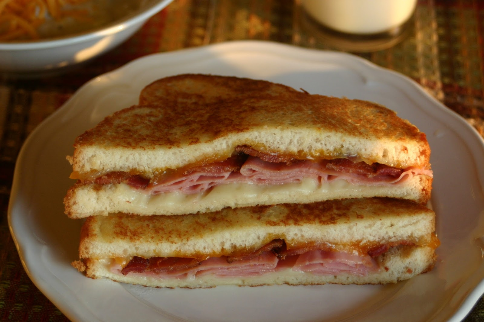 ... Cookies and more: Beer Battered Grilled Ham, Bacon and Cheese Sandwich