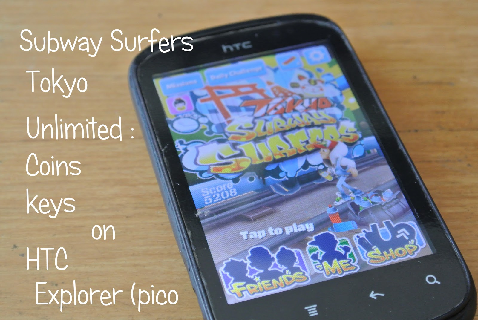 Subway Surfers 1.10.0 MOD HTC Explorer (Pico) (Unlimited Coin+Key