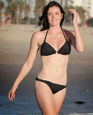 English: Courtney Robertson black bikini Los Angeles