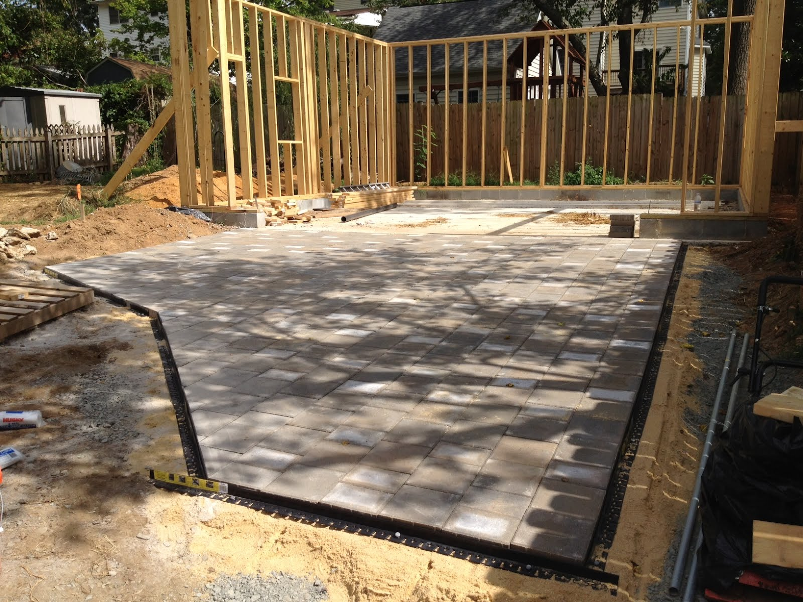 We Spent Another Long Day In The Backyard But It Paid Off In A Finished  Parking Pad! As Usual, The Finish Work Took Nearly As Much Time As The Bulk  Of The ...