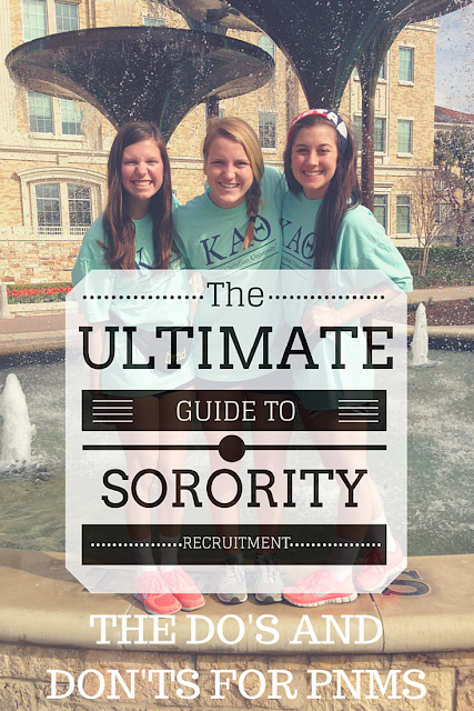 The Ultimate Guide to Sorority Recruitment: The Do's and Don'ts for PNMs