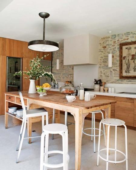 Cocinas con estilo r stico kansei cocinas servicio for Cocinas estilo rustico