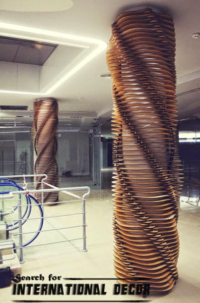 decorative columns, fiberglass columns, interior columns